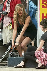 Shocking Aniston upskirt