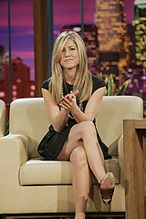 Aniston tv show upskirt